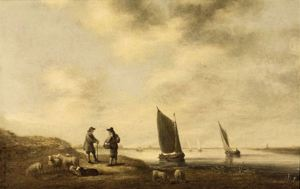 Dutch River View, Aelbert Cuyp, early 1640s