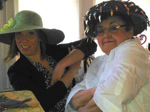 MomMom goes gangsta at La Tea Da Tea Room with granddaughter, Emily!