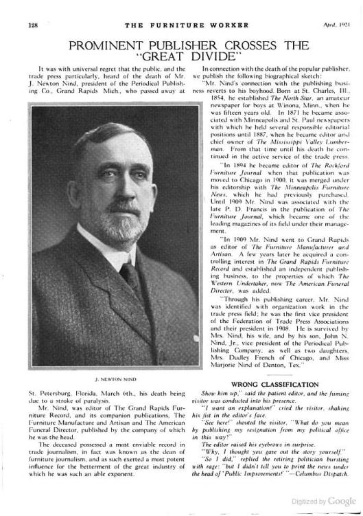 The Furniture Worker, Vol. 38, April, 1921 (Google Books)