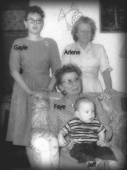 Four generations...descendants of Levi & Mary Marble Ballou, Welcome & Augusta Ballou Davidson, Charles & Mae Davidson Hubbard