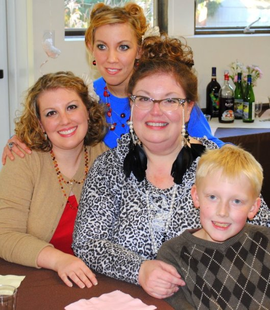 My daughters, Adrianne & Emily & grandson, William with me at my mother's 80th birthday celebration, 2012.