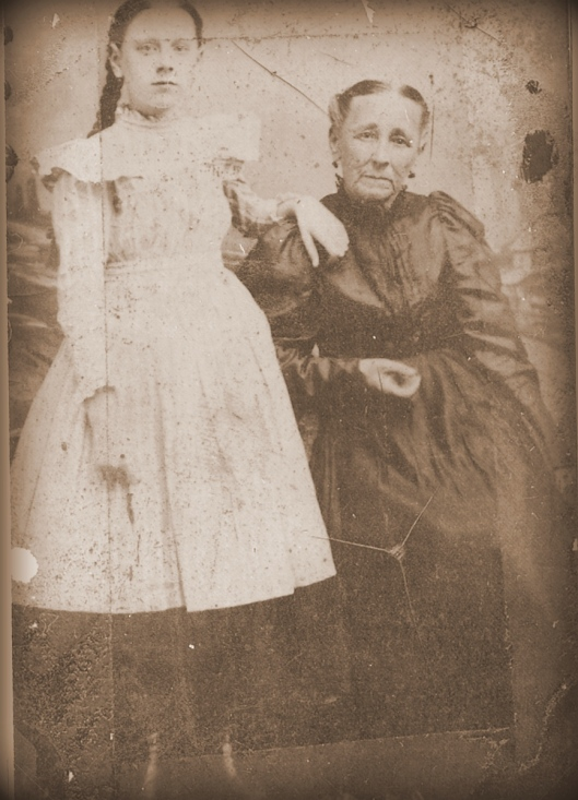 Mollie Lavenia White with grandmother, Mary Jane Hutchinson Joynes  ca. 1895