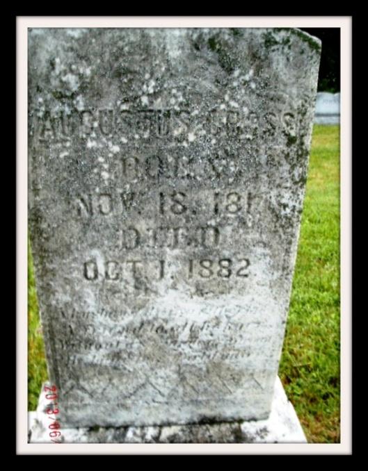 Augustus Cross - Beech Flats Cemetery, Bradford County, PA